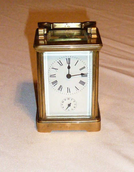 FRENCH EMPIRE ANTIQUE CARRIAGE CLOCK