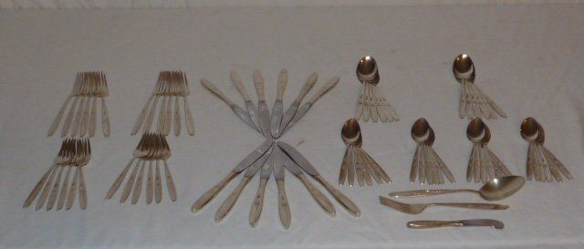 STERLING TOWLE ROSE SOLITAIRE FLATWARE SET