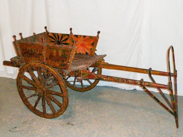 SICILIAN POLYCHROME PAINTED PARADE CART DANEU PALERMO