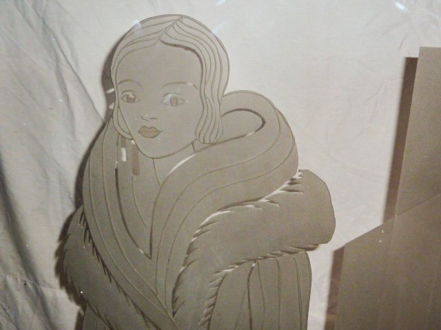 ART DECO ETCHED WINDOW/TRADE SIGN FROM MANHATTAN STORE