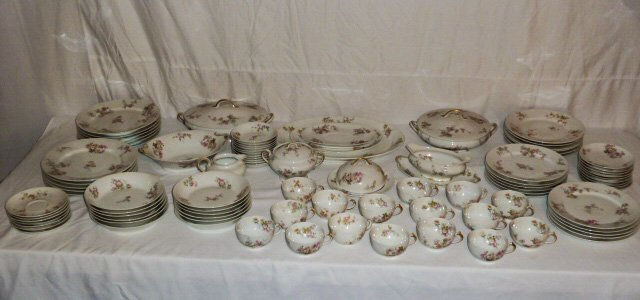 "HAVILAND LIMOGES ""GDA"" FRANCE CHINA DINNER SET"