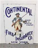 "VINTAGE PORCELAIN SIGN ""CONTINENTAL FIRE INSURANCE"""