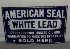 Vintage American Seal advertising sign