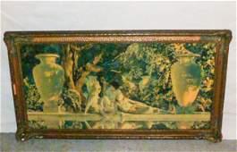 "Orig.print 1918 ""Garden of Allah"" Maxfield Parrish"