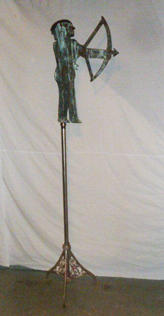 cut iron Weathervane w Native American Chief