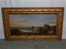 19th c oil on canvas European landscape