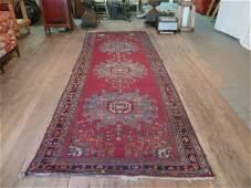 13-foot Persian rug runner 3 medallions 4 borders