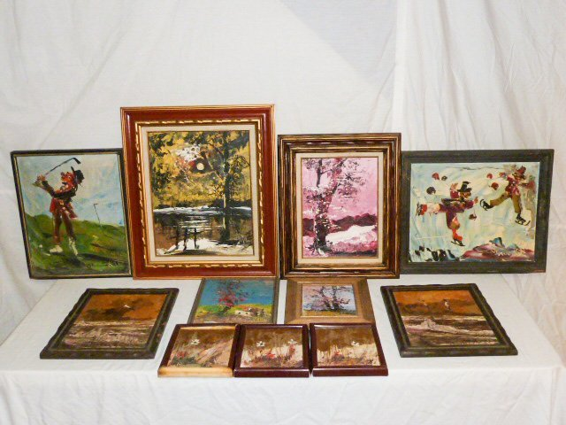 Collection of 11 Morris Katz Paintings