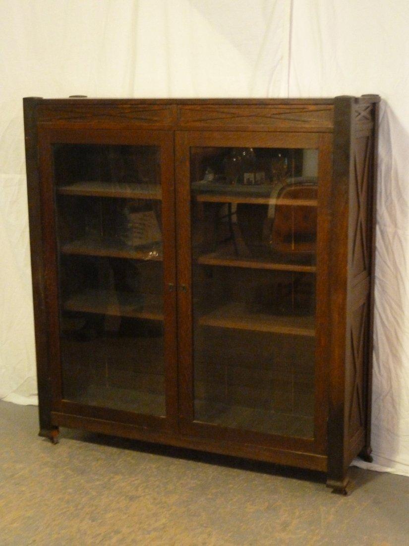 Arts u0026 Crafts 2 Doors Bookcase  x  Recessed Panels & Vintage Furniture for Sale u0026 Antique Furniture pezcame.com