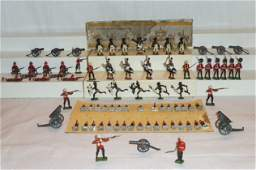 79 Assorted British Metal Lead Figures Zulu Johillco