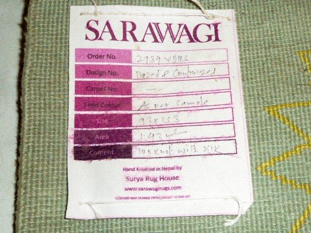 """Pair Sarawagi Rugs """"Dazed & Confused"""" Kathmandu Nepal - 4"""