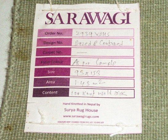"""Pair Sarawagi Rugs """"Dazed & Confused"""" Kathmandu Nepal - 7"""