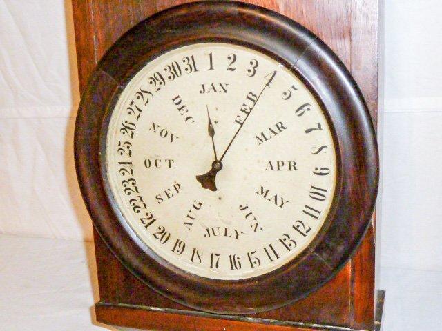 Welch Double Dial Calendar Clock B.B. Lewis - 3