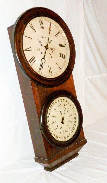 Welch Double Dial Calendar Clock B.B. Lewis - 4