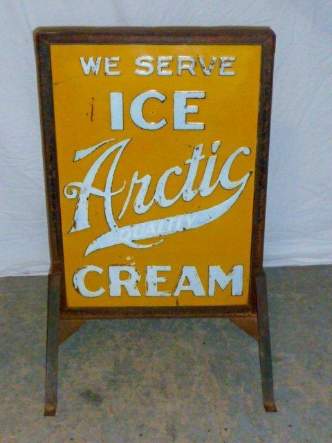 Vintage Arctic Ice Cream Store Display Sign
