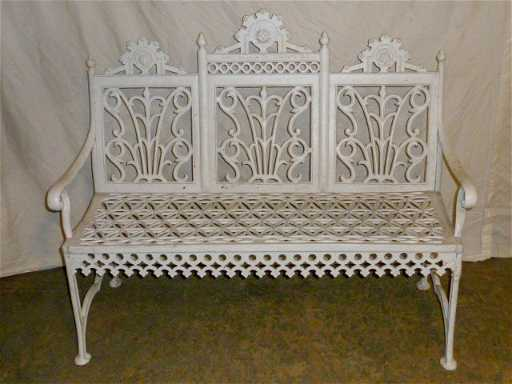 Victorian Cast Iron Garden Bench Signed P Timmes Placeholder