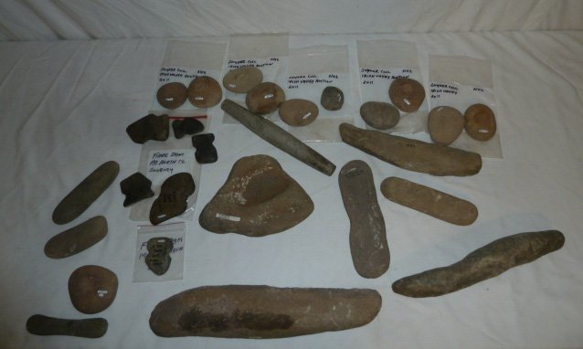 Collection of Vintage Native American Stone Objects