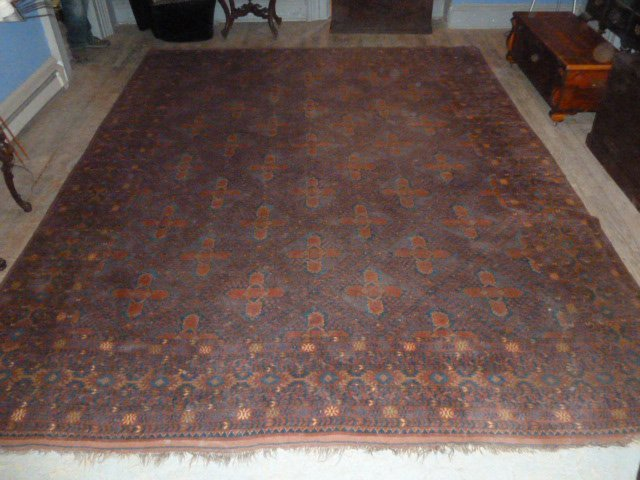 Antique Turkoman Carpet 7 Borders