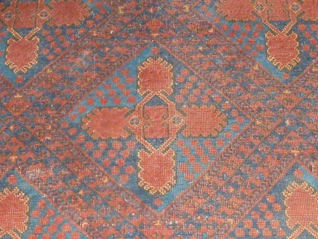 Antique Turkoman Carpet 7 Borders - 2