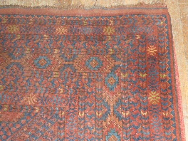 Antique Turkoman Carpet 7 Borders - 3