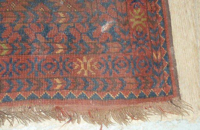 Antique Turkoman Carpet 7 Borders - 4