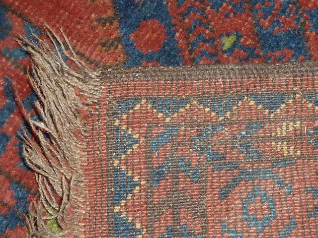 Antique Turkoman Carpet 7 Borders - 5