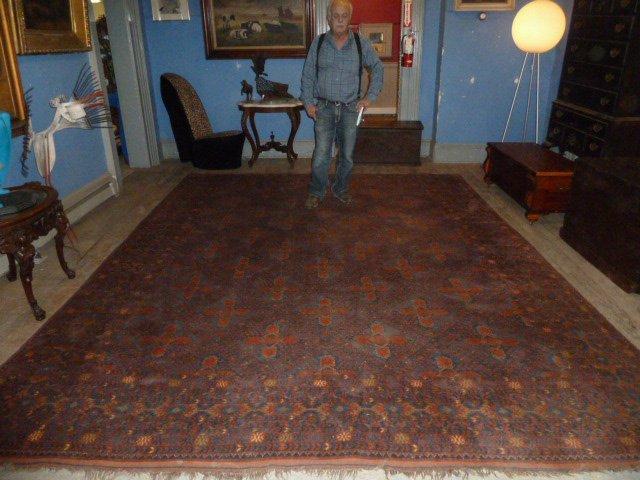 Antique Turkoman Carpet 7 Borders - 6
