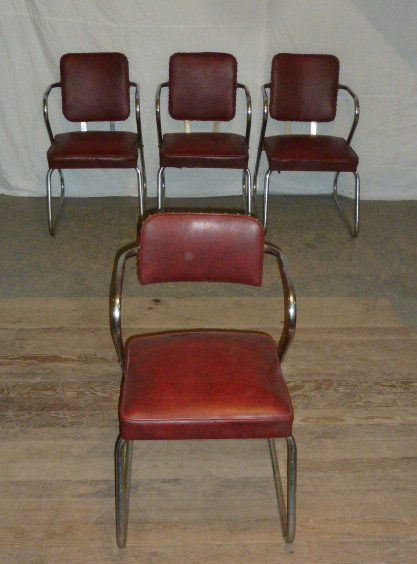 Mid-Century Four Arm Chairs