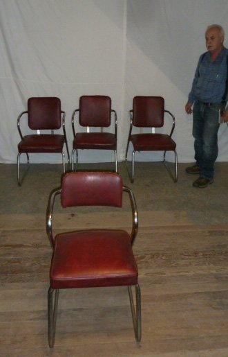Mid-Century Four Arm Chairs - 5