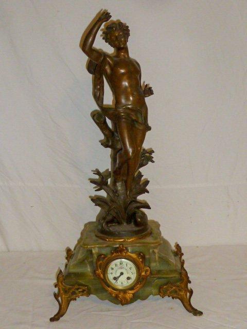 Emile Bruchon Figural shelf Clock
