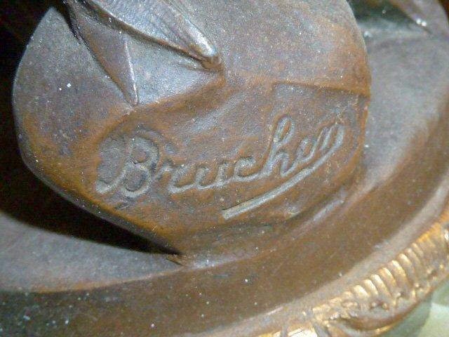 Emile Bruchon Figural shelf Clock - 6