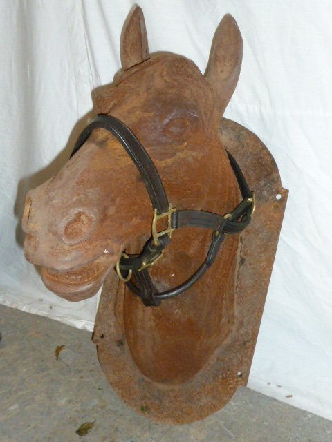 Cast iron Horse Head Stable Sign