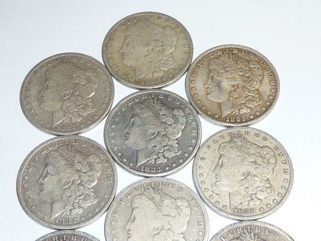 10 Morgan & Peace Silver Dollars 1st of 3 in this sale - 2