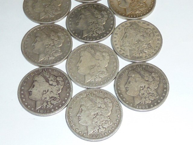 10 Morgan & Peace Silver Dollars 1st of 3 in this sale - 3