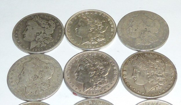 10 Morgan Silver Dollars 2nd of 3 in this sale - 2