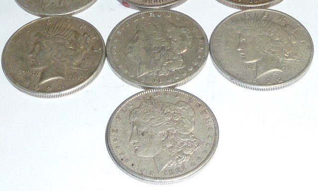 10 Morgan Silver Dollars 2nd of 3 in this sale - 3
