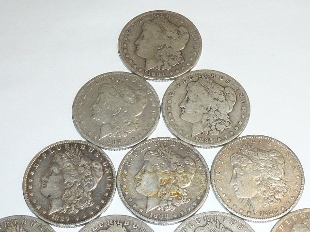 10 Morgan Silver Dollars 3rd of 3 in this sale - 2