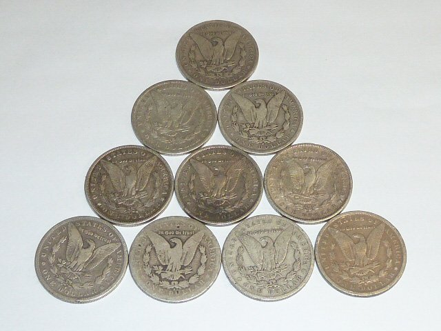 10 Morgan Silver Dollars 3rd of 3 in this sale - 4