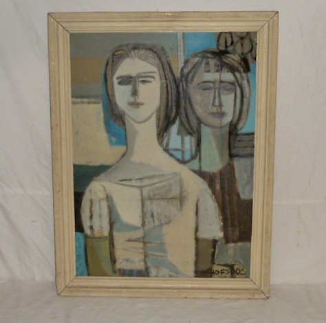 Mary Lou Hofsoos Cubist Figural Painting