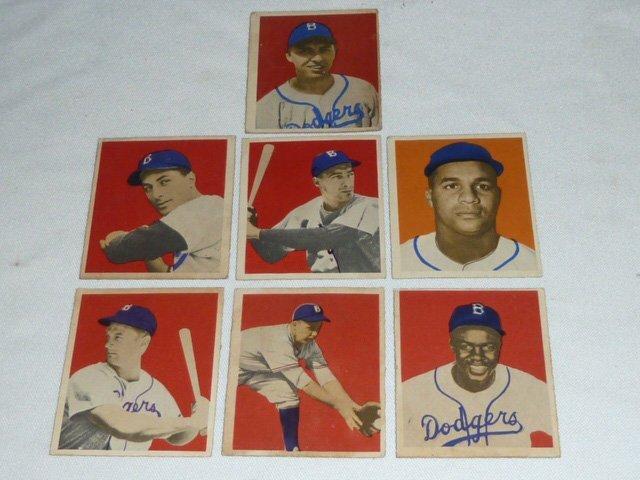 13 1949 Bowman Baseball Gum Cards Robinson Etc