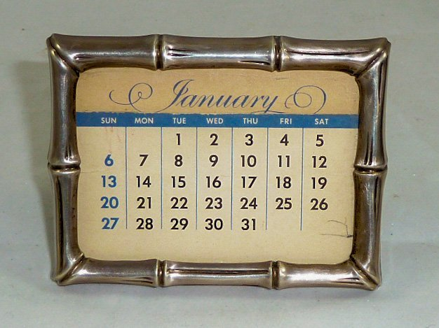 Tiffany & Co. Makers 925 Bamboo Calendar Frame