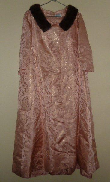Vintage 1950's - 60's Bergdorf Goodman Lame' Housecoat
