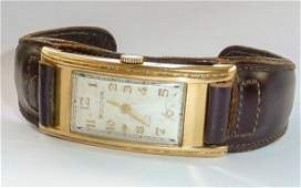 14kt Art Deco Gold Men's Bulova Tank Watch