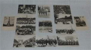 13 WWII Real Photo Post Cards The Liberation of Paris