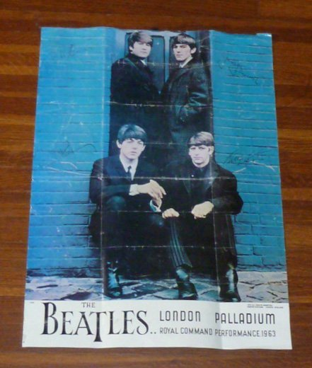 The Beatles Royal Command Performance 1963 Poster
