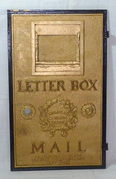 American Mailing System U.S. Mail Letter Box Iron Door