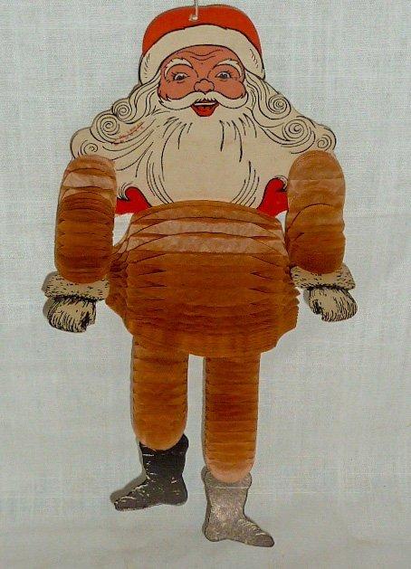 1950's Dancing Santa Claus Honeycomb Christmas Ornament