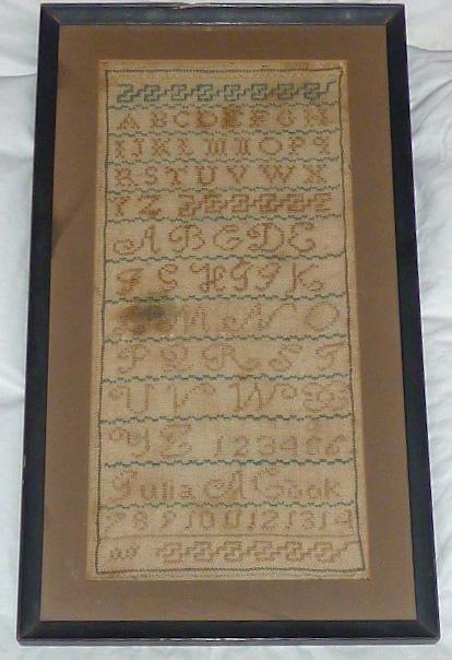 Antique Sampler 1800's signed Julia A Gook