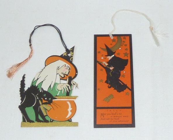 """1930's Halloween Die-Cut Tally Cards """"Scary Witches"""""""