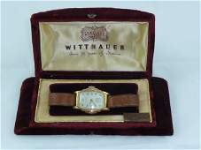 VINTAGE WITTNAUER TANK WATCH IN THE ORIGINAL BOX